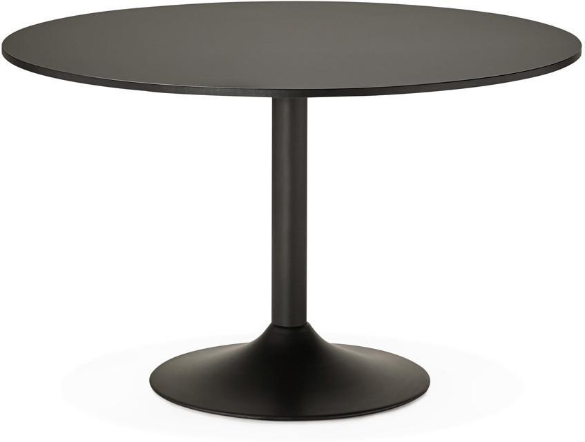 Eettafel konrad rond cm zwart hout metaal kokoon design lil